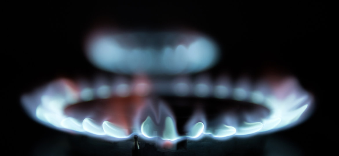 Blue flames from natural gas